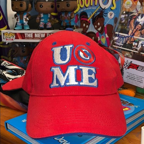 new style 593f8 bed1e WWE JOHN CENA HAT CAP WWE RED NEW. M 5c46143e45c8b36f96611138